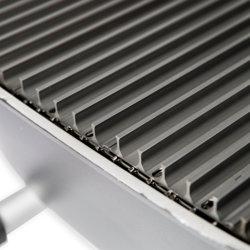 PK360 GrillGrate 5-panel set has raised rails to concentrate heat