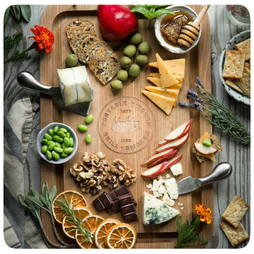 The PK Grills Durable Teak Cutting Board will make your food look like this.