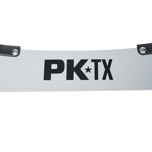 Branding on the PK-TX folding stand for the Original PK Grill & Smoker.