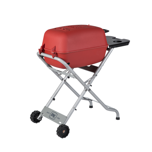 The Original PKTX Grill & Smoker in Matte Red