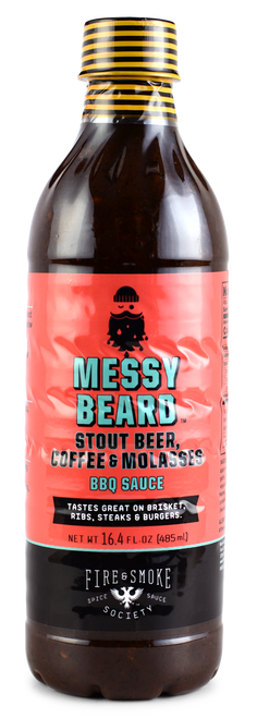 Fire & Smoke Society | Messy Beard Coffee, Beer & Molasses BBQ Sauce 16.4 oz