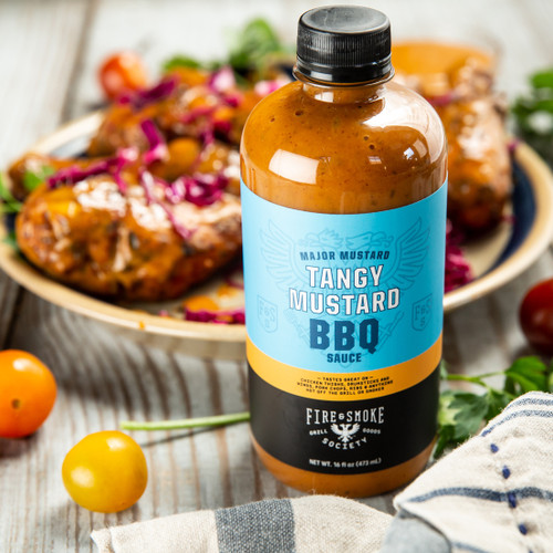 Fire & Smoke Society | Major Mustard BBQ Sauce 16.4 oz