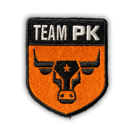 Team PK Woven Patch - Iron On