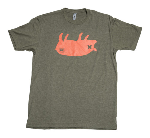 PK Grills Pig Tee Shirt in Green