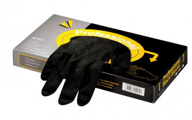 Small Latex Professional Black Gloves 20pcs
