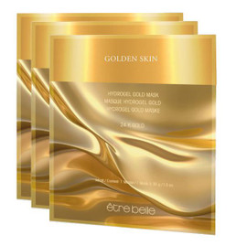 hydro-gel mask with gold