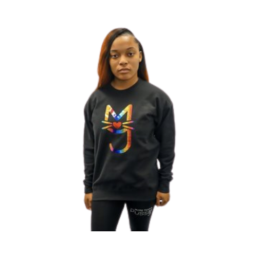 Rainbow M.T.A.P. Kitty Sweatshirt, Black sweatshirt, Kitty, More Than A Pussy