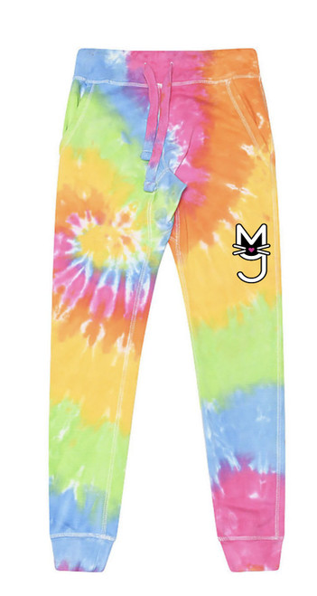Tie Dye Joggers, Rainbow, More Than A Pussy Joggers, Rainbow joggers