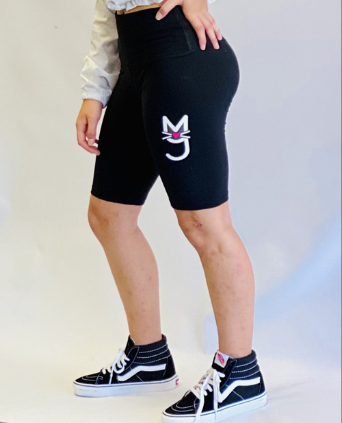 More Than A Pussy, M.T.A.P. Kitty Black Biker Shorts