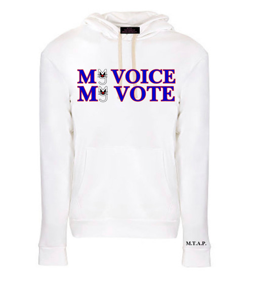 My Voice, My Vote 2020 Presidential Election Hoodie, Women empowerment with More Than A Pussy M.T.A.P. on the sleeve