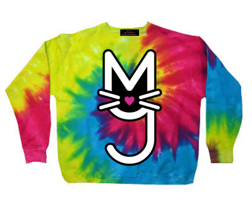 Tie Dye Sweatshirt, with rainbow More Than A  Pussy