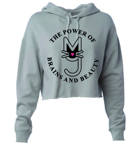 Sage, The Power of Brains and Beauty cropped hoodie