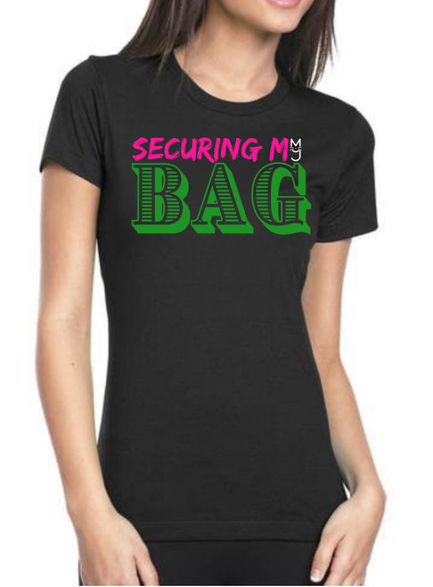 Black Securing My Bag T-shirt