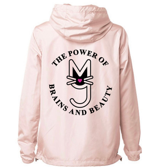 More Than A Pussy, M.T.A.P. Kitty, Cropped Windbreaker, Perfect for Hoodie Season. Statement making streetwear, Chic style, women's clothing, Fashion, Fashion Forward, The Power of Brains and Beauty