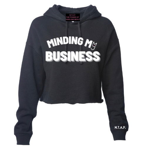 Minding My Business Cropped Hoodie
