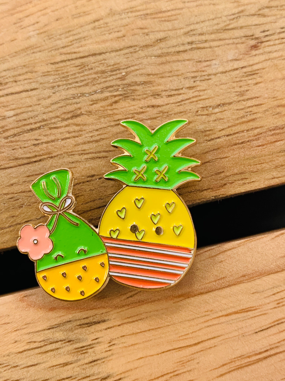 Enamel Pin Aloha Masked Bandits Lau Lau And Pineapple