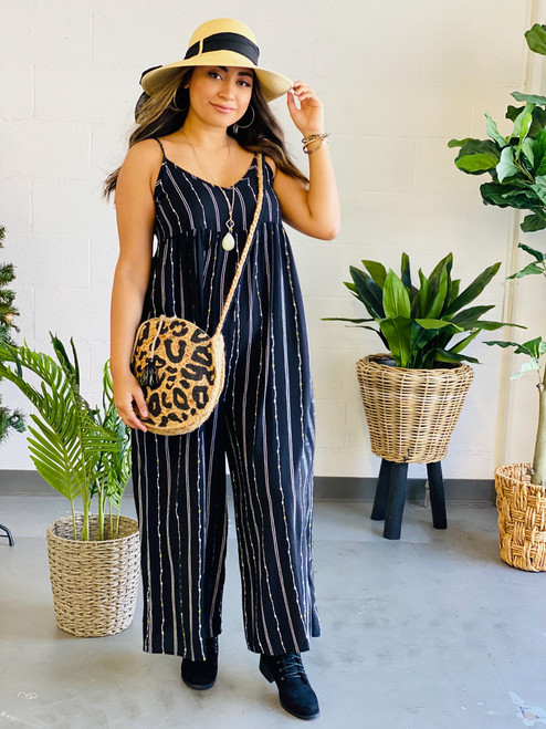 May Jumpsuit: Black Combo