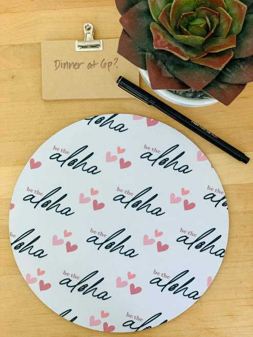 Fabric Trivet: Be The Aloha White