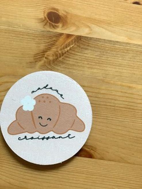 Fabric Coaster: Madame Croissant