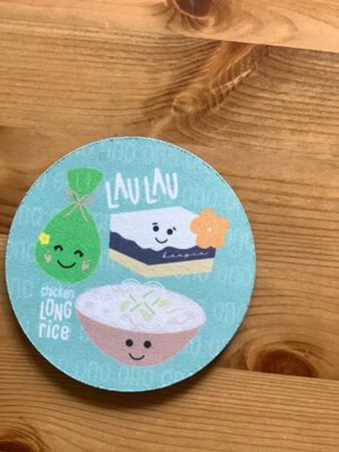 Fabric Coaster: Hawaiian Food