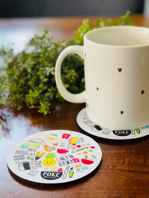Fabric Coaster: Heart of Eden Icons