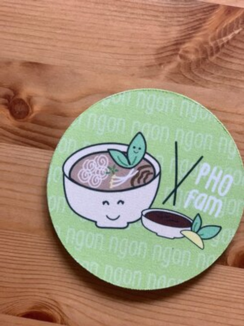 Fabric Coaster: Pho Fam
