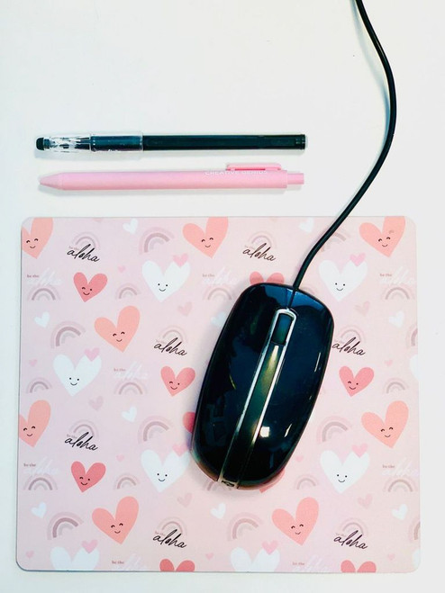 Plastic Mousepad: Be The Aloha Pink