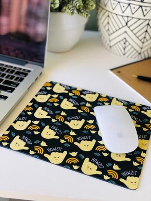 Plastic Mousepad: Howzit Shaka