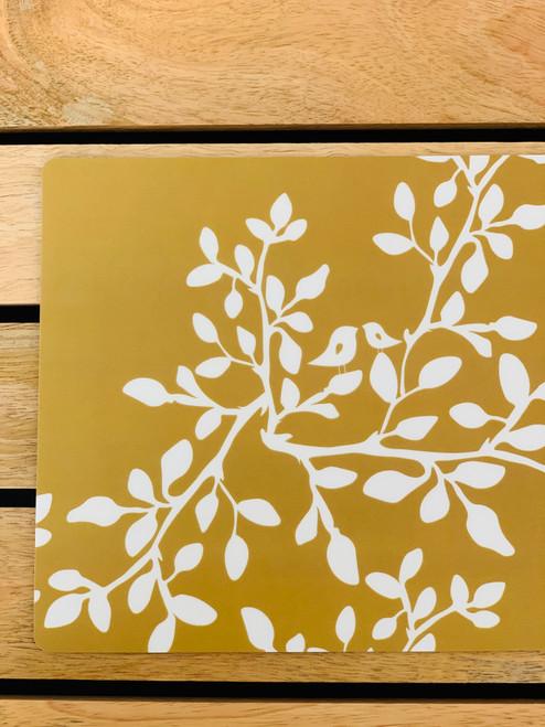 Plastic Mousepad: Leaves in Bloom