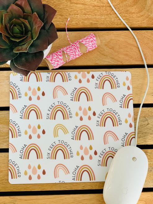 Plastic Mousepad: Six Feet Together