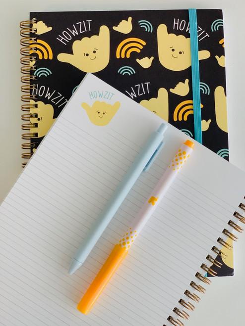 Spiral Notebook: Howzit Shaka