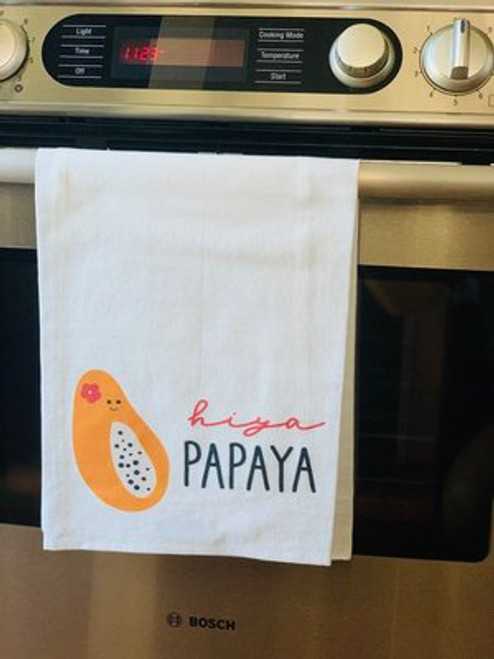 Dish Towel: Hiya Papaya