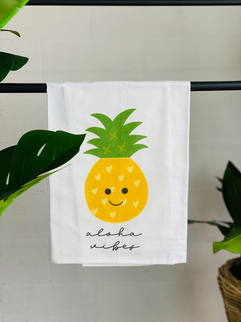 Dish Towel: Happy Pineapple