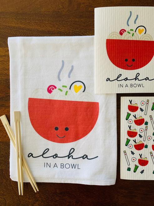 Dish Towel: Ramen Bowl