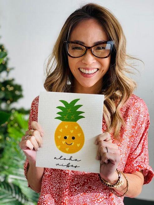 Swedish Dishcloth: Happy Pineapple