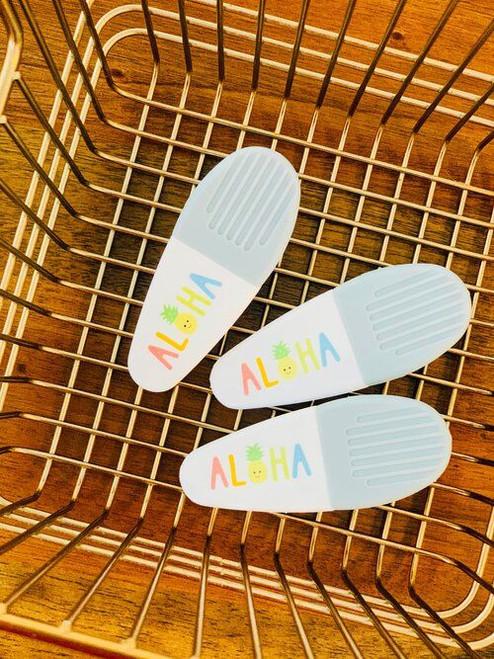 Full Color Chip Clip: Aloha Rainbow Pineapple