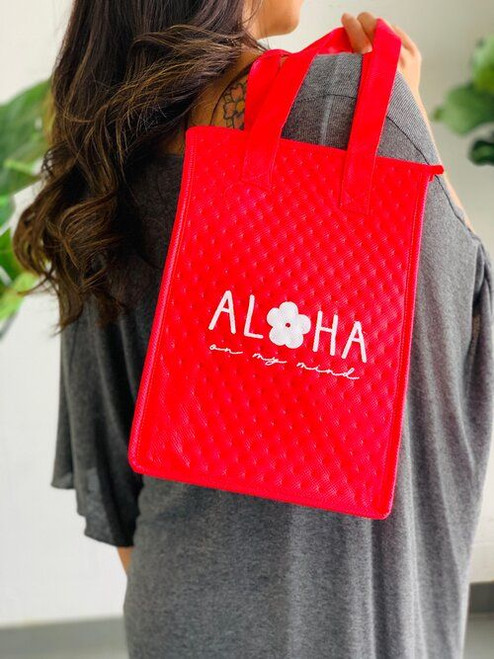 Therm-O Lunch Bag: Aloha Flower Red