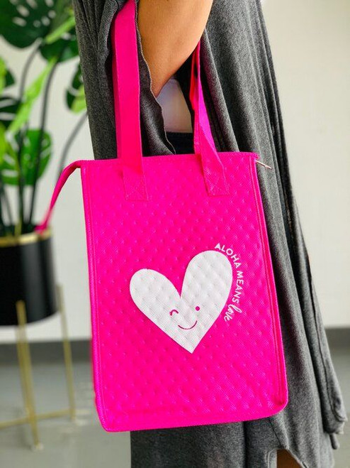 Therm-O Lunch Bag: Aloha Means Love Pink