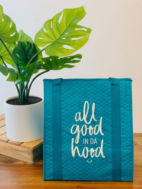 Therm-O Grocery Bag: All Good In Da Hood Teal