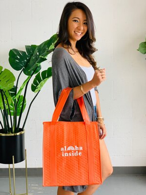 Therm-O Grocery Bag: Aloha Inside Orange