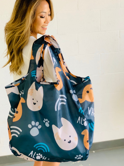 Large Tote: Bear and Noodle
