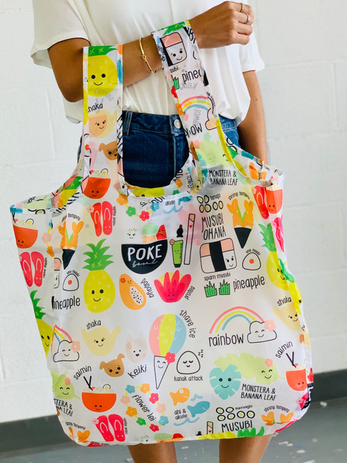 Large Tote: Heart of Eden Icons