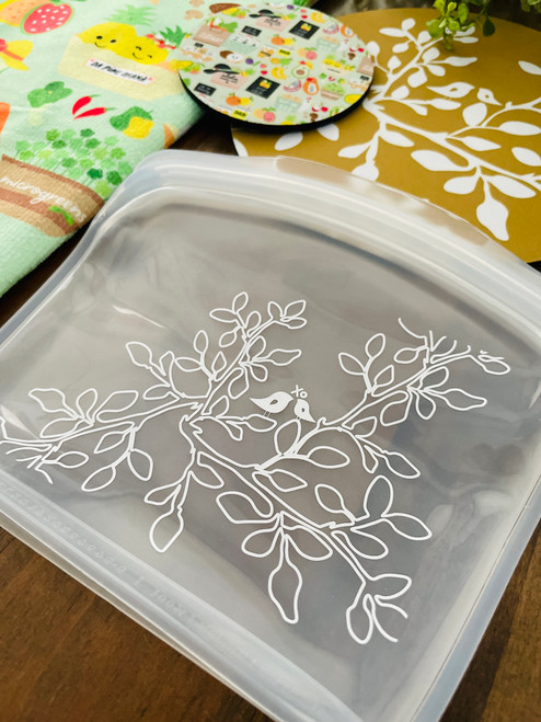 In The Bag Silicone Sack: Leaves in Bloom Clear