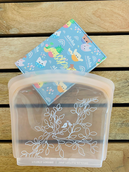 In The Bag Silicone Sack: Leaves in Bloom Blush