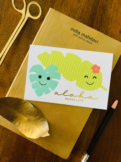 Greeting Card: Aloha Means Love