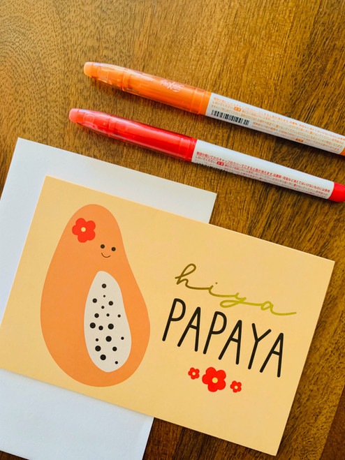Greeting Card: Hiya Papaya