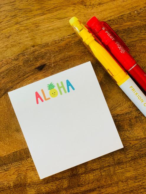 Post It Pad (50 Sheets): Aloha Pineapple