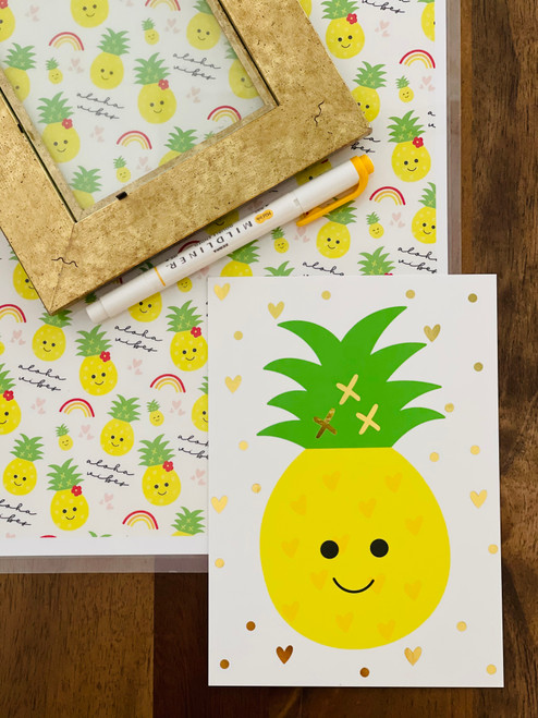 Art Print: Happy Pineapple