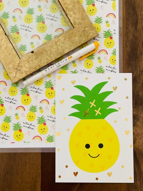 Art Print: Happy Pineapple