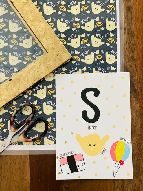 Art Print: S is for Shaka